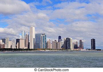 horizon, sur, michigan, lac, chicago