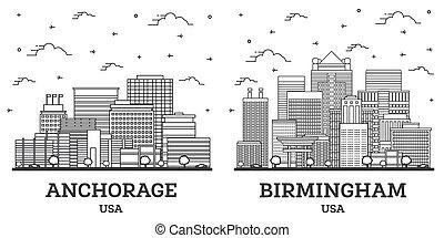 horizon, usa, alabama, anchorage, birmingham, set., ville, contour, alaska