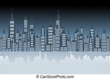 horizon ville, illustration