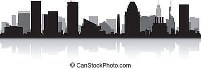 horizon ville, silhouette, baltimore