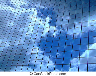 horizontal, ciel, reflet