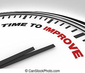 horloge, -, amélioration, date limite, plan, temps, améliorer