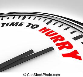 horloge, bas, date limite, temps, compte, hâte