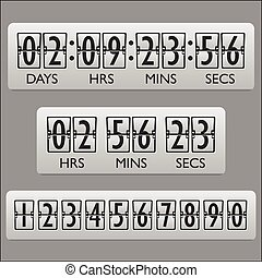 horloge, compte rebours, minuteur