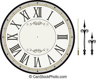 horloge, gabarit, figure