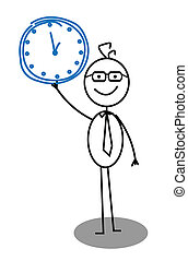 horloge, homme affaires