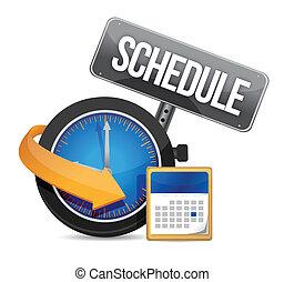 horloge, horaire, icône