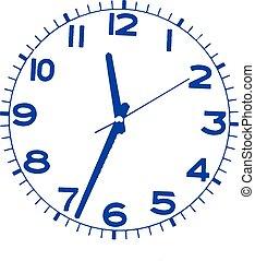 horloge, isolé, fond, blanc