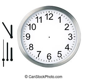 horloge, isolé, rond