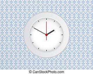 horloge, mur