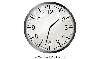 horloge, timelapse, animation