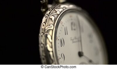 horloge, vendange, haut, figure, fin, tourne