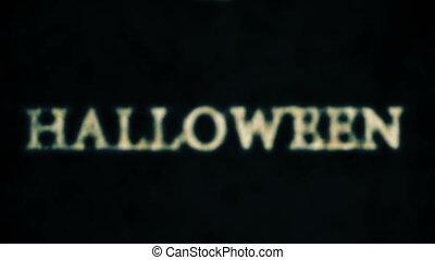 horreur, halloween, boucle, très, cimetière, composition