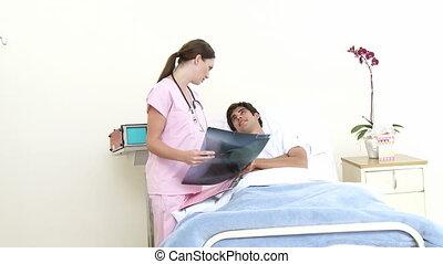 hospi, docteur, voir, patient