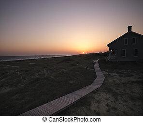 house., plage