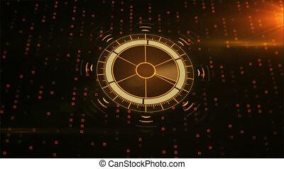 hud, cible, map., radar, utilisateur, interface., futuriste