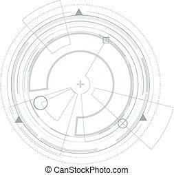 hud., graphic., virtuel, interface utilisateur, futuriste