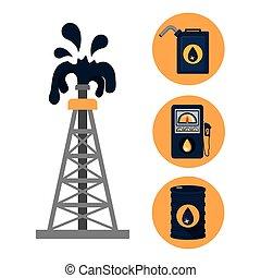 huile, conception, industrie, pétrole
