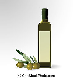 huile d'olive, bouteille