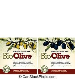 huile, olive, étiquettes