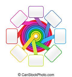 huit, éléments, cercle