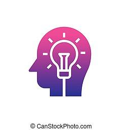 humain, ampoule, esprit, idées