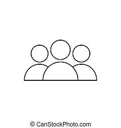 humain, arrière-plan., icône, isolé, blanc