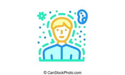 humain, couleur santé, immunity, animation, icône