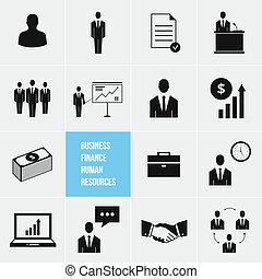 humain, gestion, business, resou
