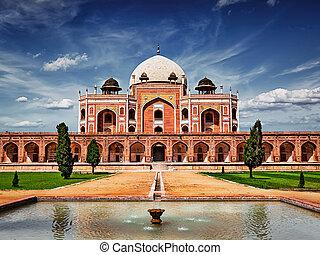 humayun's, tomb., inde, delhi
