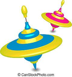 humming-tops, coloré