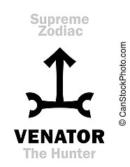 hunter), venator, =, (the, zodiac:, suprême, orion, astrology: