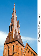 huntsville, espace, clocher, historique, église, alabama, copie