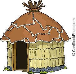hutte, indigène