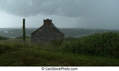 hutte, voisinage, pierre, négligence