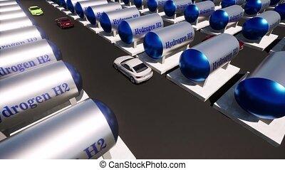 hydrogène, energy., renouvelable, h2, réservoir, carburant, facilité, soutenable