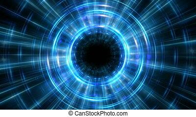 hyper, saut, temps, cycle, fond, concept, boucle, bleu