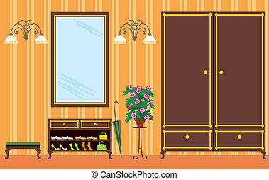 hypnotisez couloir, appartement