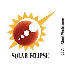 icône, éclipse, solaire