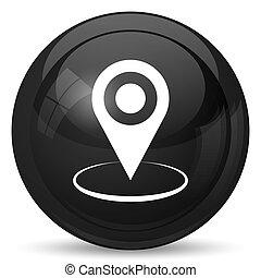 icône, épingle, emplacement