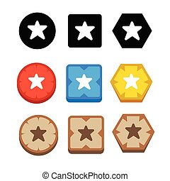 icône, étoile