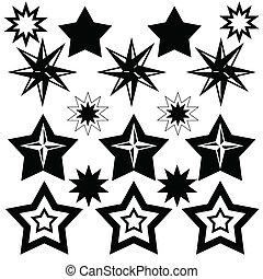 icône, étoiles