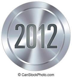 icône, 2012, industriel, bouton
