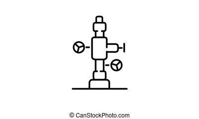 icône, accessoires, alpha, fontaine, puits, ligne, huile, canal