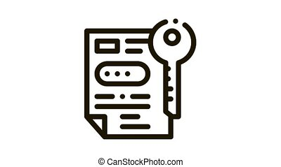 icône, accord, animation, protection