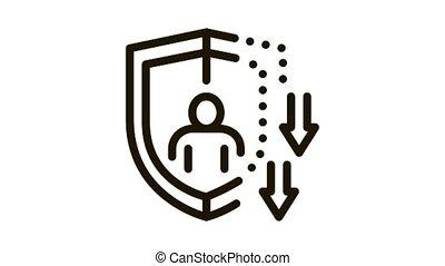 icône, affaibli, immunity, animation