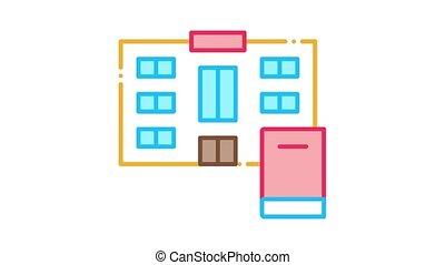 icône, animation, bibliothèque
