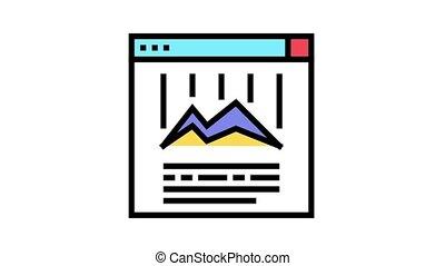 icône, animation, diagramme, couleur, ligne