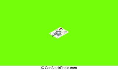 icône, animation, diagramme, recherche