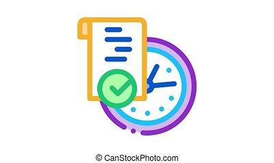 icône, animation, document, temporaire